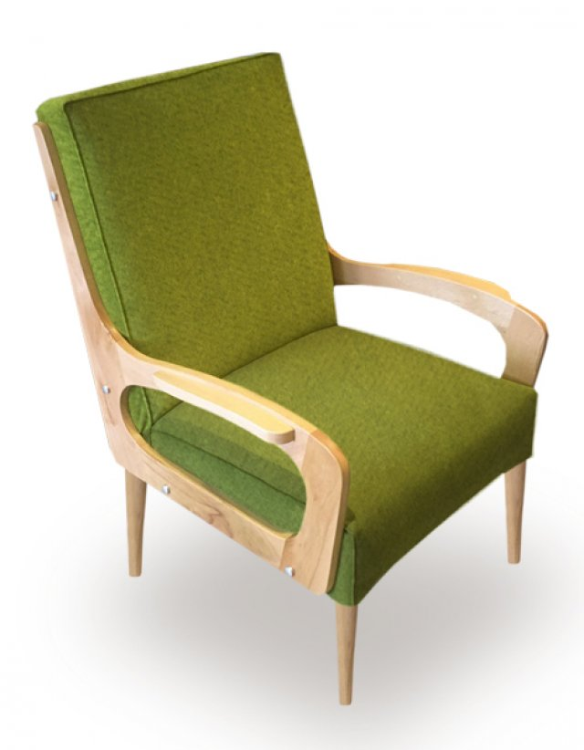 Chair with green upholstery Milano