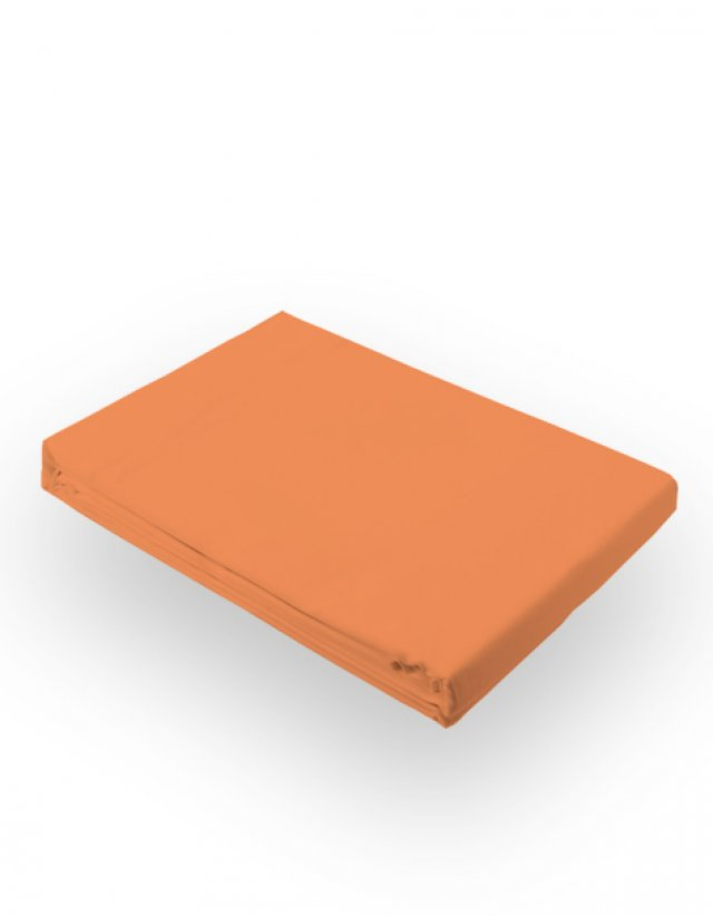 Bed sheet in salmon color