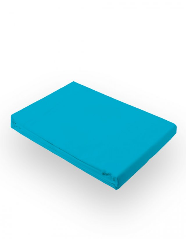 Turquoise bed sheet